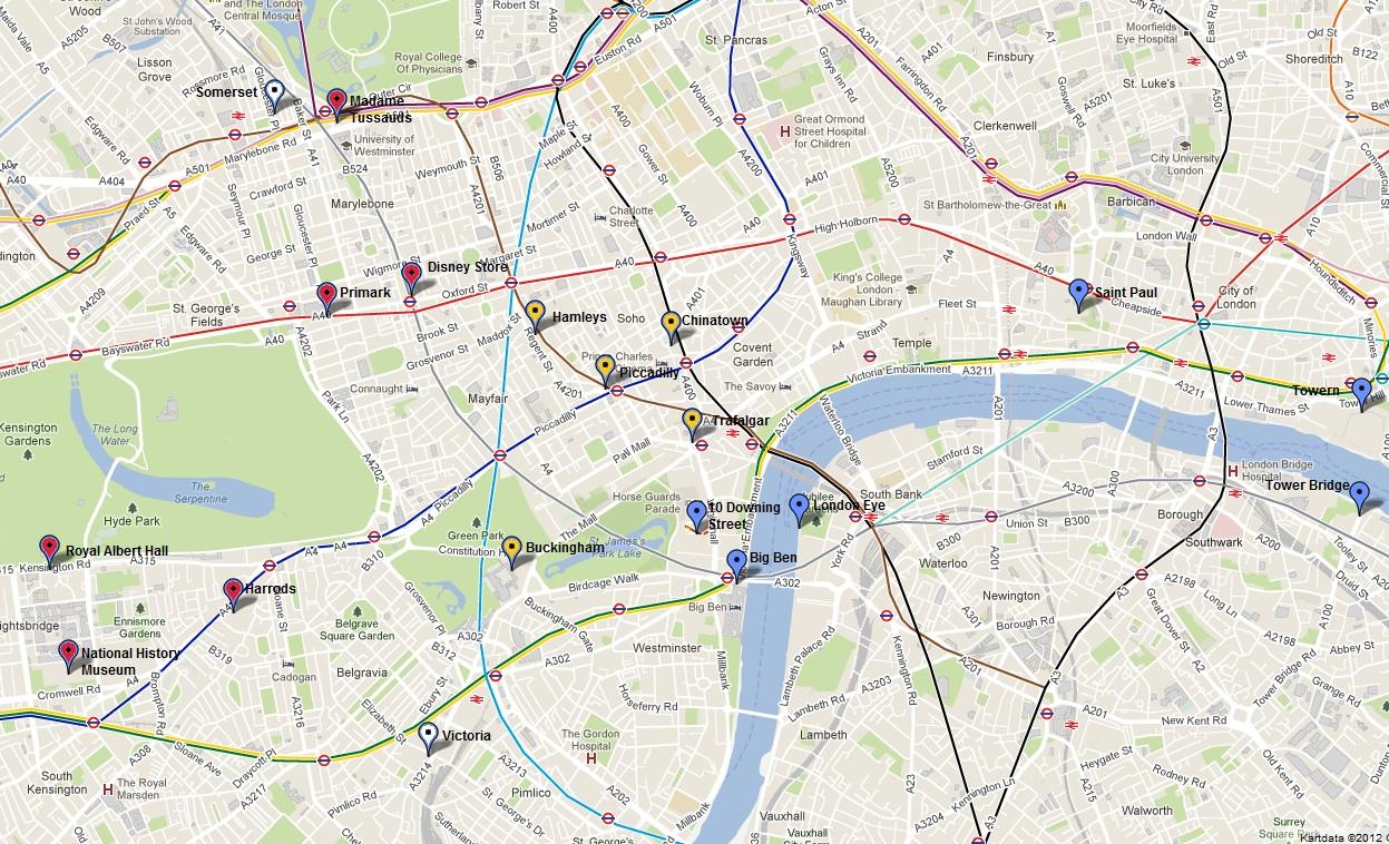 karta över londons sevärdheter oktober | 2012 | Paris 2012 karta över londons sevärdheter